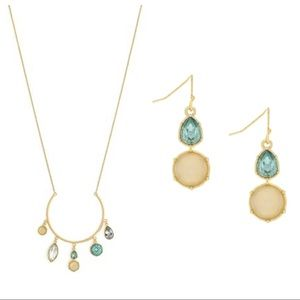 JESSICA SIMPSON Opalescence Necklace & Earring Set